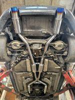 Nissan 350z Раздвоенная выхлопная система